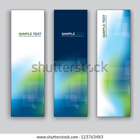 Set of Banners. Vector Illustration. - stock vector