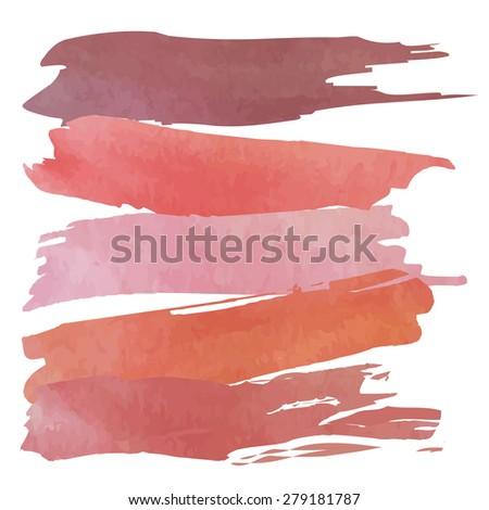 Set of banners. Vector illustration.orange pink violet purple tone color.Vintage logo - stock vector