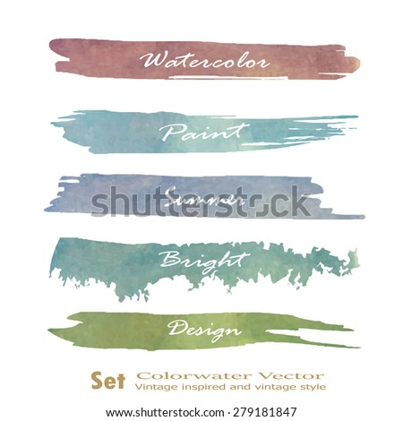 Set of banners. Vector illustration.red pink violet tone color.Vintage logo summer - stock vector