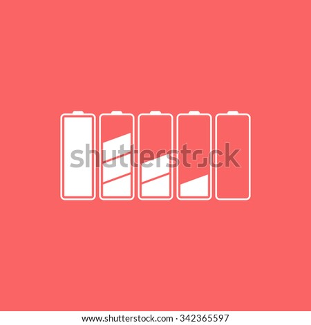 Set of battery charge level indicators. - stock vector