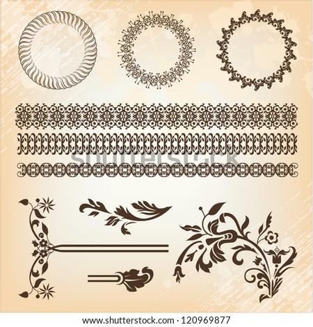 set of beautiful design elements - stock vector