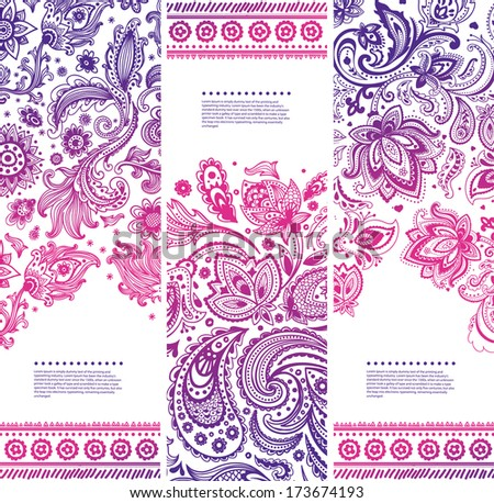 Set of Beautiful floral banners  - stock vector