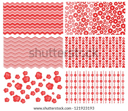 set of beautiful patterns - stock vector