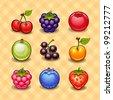 Set of berries - stock vector
