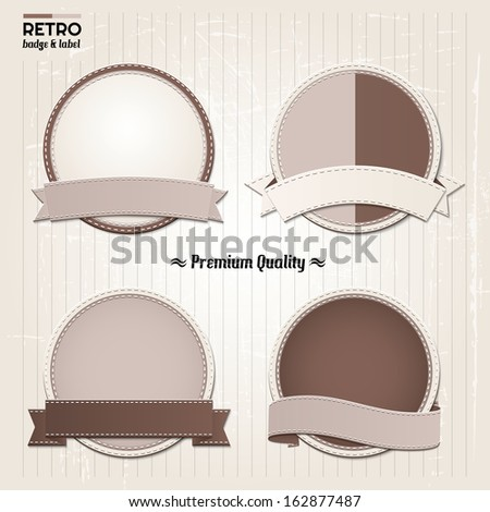 Set of best Quality stamp, sticker, tag, label, badge. - stock vector