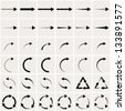 set of black arrows. eps8 - stock vector