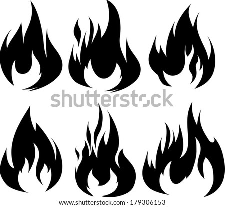 Fire tattoo stock photos images pictures shutterstock for Black and white flame tattoo