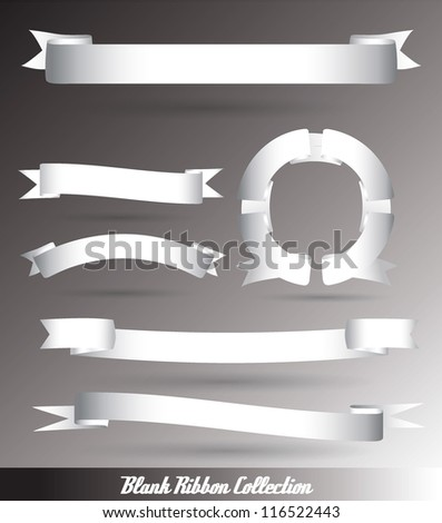 Set of blank retro vintage ribbons. - stock vector