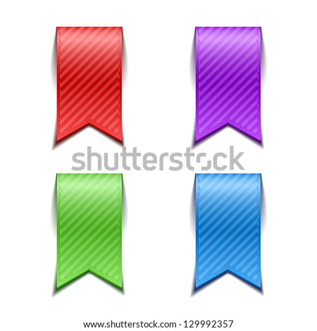 Set of bookmarks isolated - stock vector