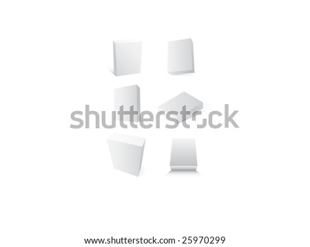 Set of boxes. Empty blank for design - stock vector