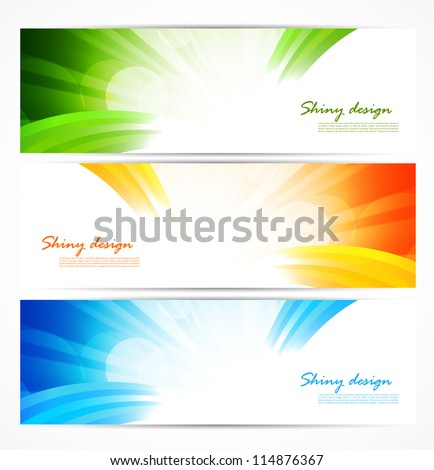 Set of bright banners. Abstract illustration - stock vector