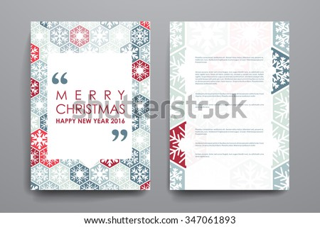 Set of brochure, poster templates in Christmas style. Beautiful design and layout - stock vector