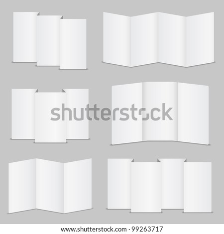 Set of brochure templates, vector eps10 illustration - stock vector