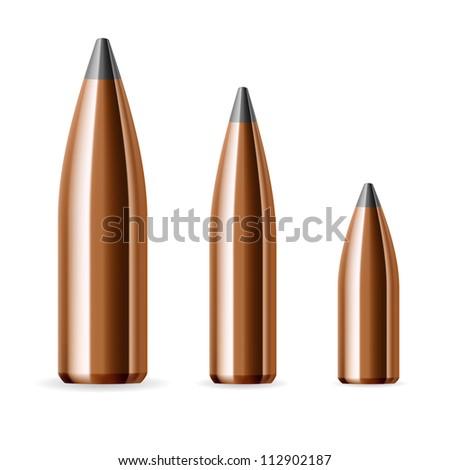 Set of bullets. Illustration on white background - stock vector