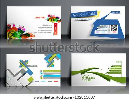 Set of Business Card Mock up Design  - stock vector