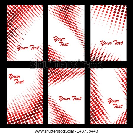 Set of business cards in abstract style. Jpeg version also available in gallery - stock vector