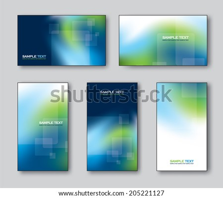 Set of Business Cards or Gift Cards. Vector Illustration.  - stock vector