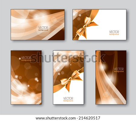Set of Business Cards with Sparks. Eps10. - stock vector