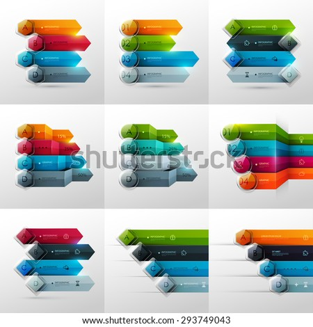 Set of business infographic templates. Vector illustration. - stock vector
