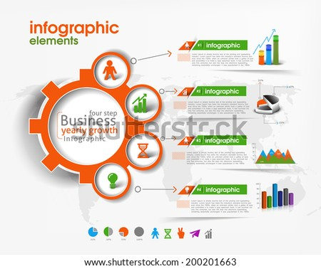 Set of Business Infographic Vector Background.  - stock vector