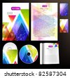 Set of business templates - stock vector