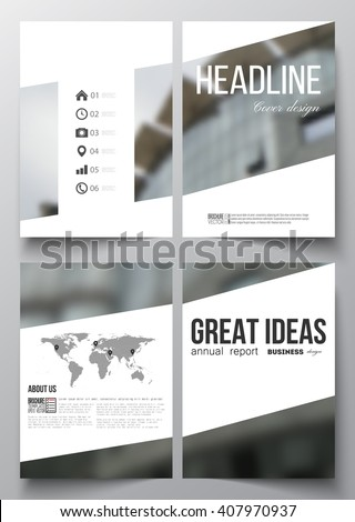 Set of business templates for brochure, magazine, flyer, booklet or annual report. Abstract background, blurred image, urban scene, modern vector texture - stock vector