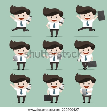 Set of Businessmen  - stock vector