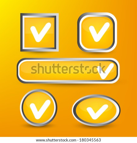 Set of buttons for website. Vector  illustration  - stock vector