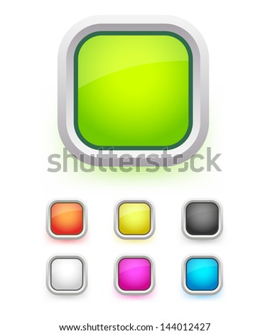 Set of buttons.Vector illustration. - stock vector