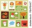 set of cartoons kids elements - stock vector