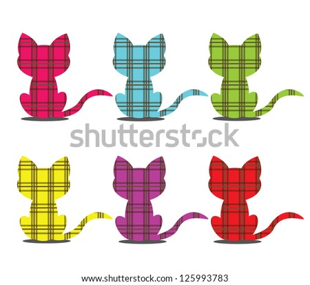 Set of cat icons - stock vector