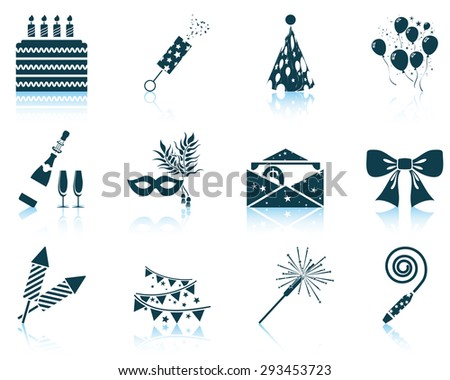 Set of celebration icons - stock vector