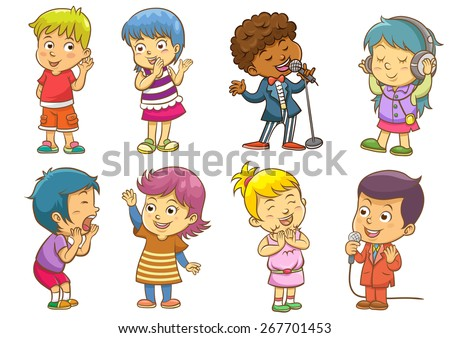 set of child activities routines.EPS10 File  simple Gradients, no Effects, no mesh, no Transparencies.All in separate group for easy editing. - stock vector