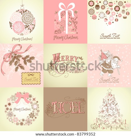 Set of Christmas Backgrounds - stock vector