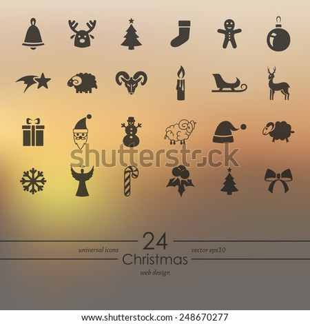 Set of Christmas icons - stock vector