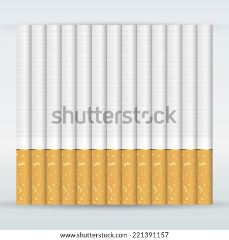 Set of Cigarettes - stock vector