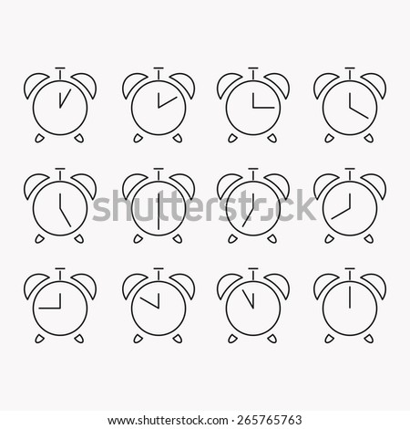 Set of clocks icons - stock vector