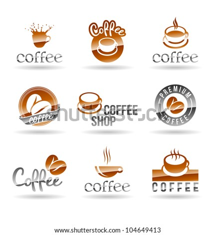Set of coffee icons. Set 1. - stock vector