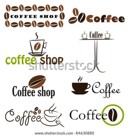 Set of coffee label designs. Vector illustration - stock vector