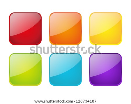 Set of color apps icons - stock vector