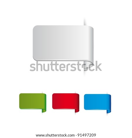 set of color stickers - stock vector