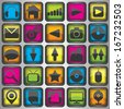 Set of color  web icons - stock vector