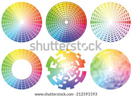 Set of Color wheels. Vector illustration - stock vector