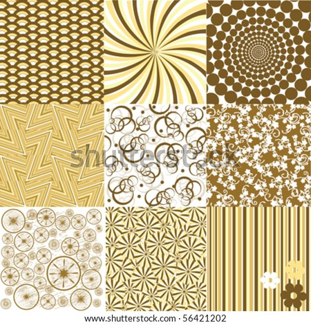 Set of colored backgrounds - stock vector