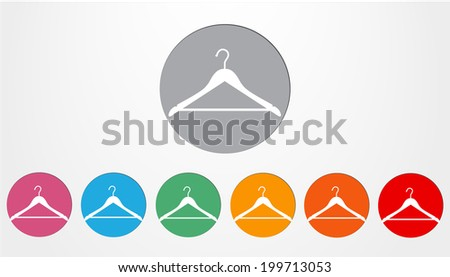 Set of colored buttons hanger vector icons - stock vector