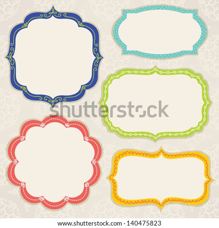 Set of colorful frames - stock vector