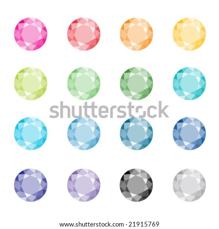 Set of colorful jewels - stock vector