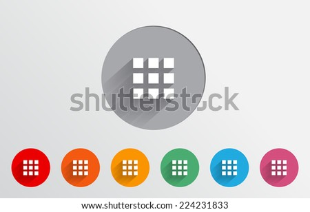 Set of colorful menu icon - stock vector