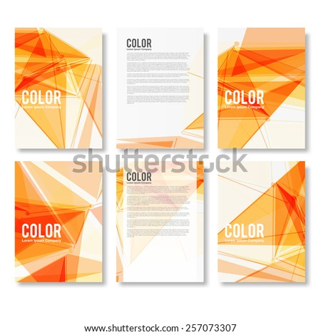 Set of Colorful Modern Abstract Flyers - EPS10 Brochure Design Templates - stock vector