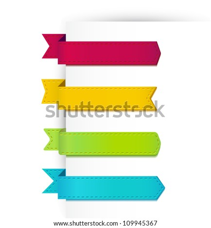 Set of colorful ribbons. Vector - stock vector